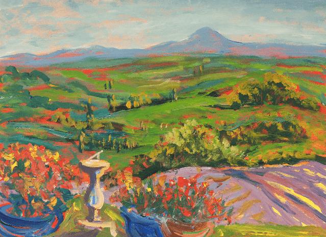 Varvara Neiman landscape painting French Pyrenees.