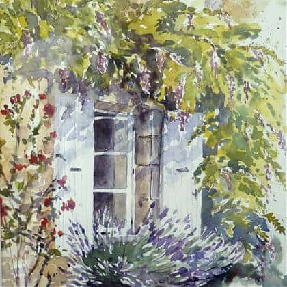 Watercolour painting by artist and tutor Elizabeth Baldin.